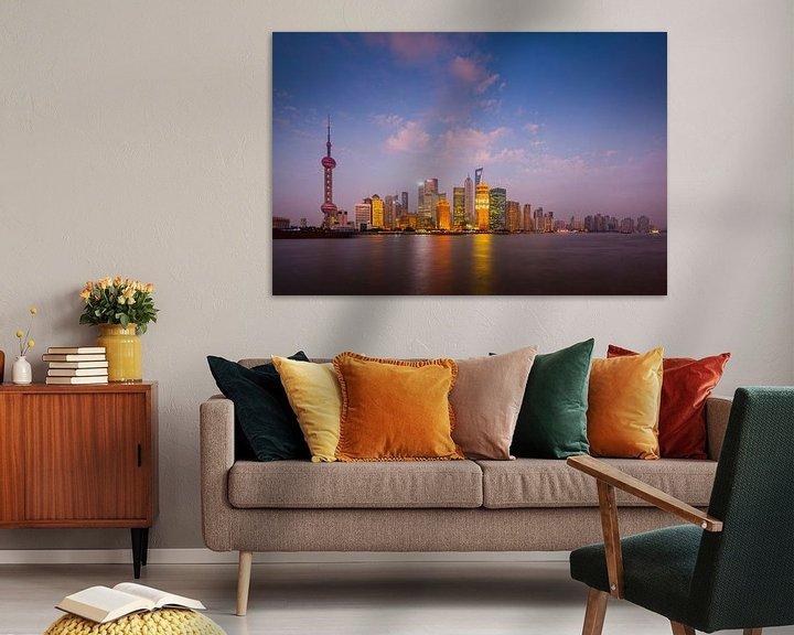 Sfeerimpressie: Shanghai Skyline van Chris Stenger