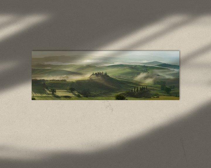 Sfeerimpressie: Toscaanse ochtend 1 van Edwin Mooijaart