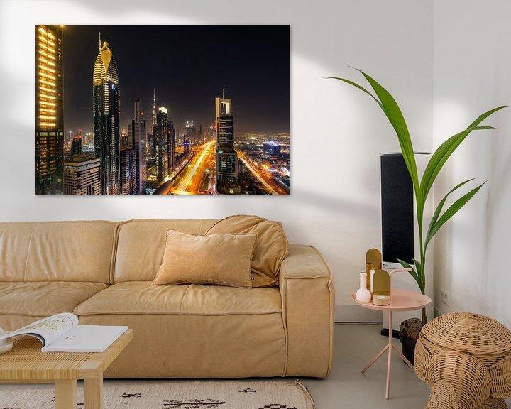 Sfeerimpressie: Dubai  Skyline van Michael van der Burg