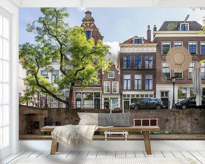 Sfeerimpressie behang: Huizen langs de Oudegracht van De Utrechtse Internet Courant (DUIC)