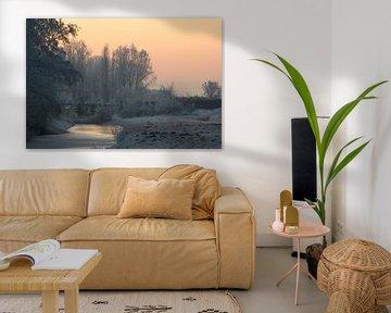 Winters landschap von Miranda van Hulst