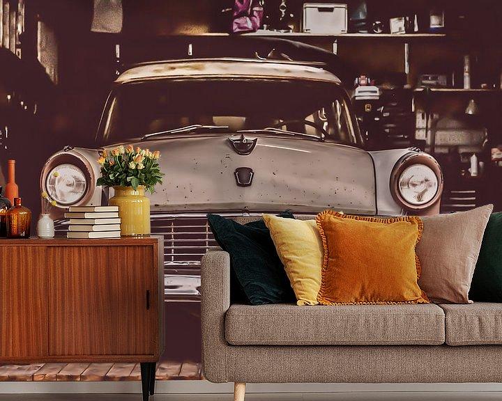 Sfeerimpressie behang:  Ford Parklane 1956 van marco de Jonge