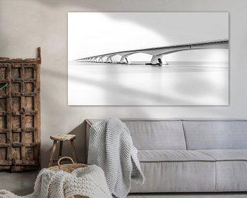 Zeelandbrug in Zwart Wit von Mario Calma