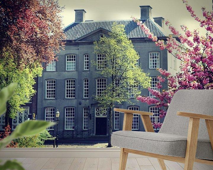 Sfeerimpressie behang: Beautiful old house in Amersfoort, Netherlands van Daniel Chambers