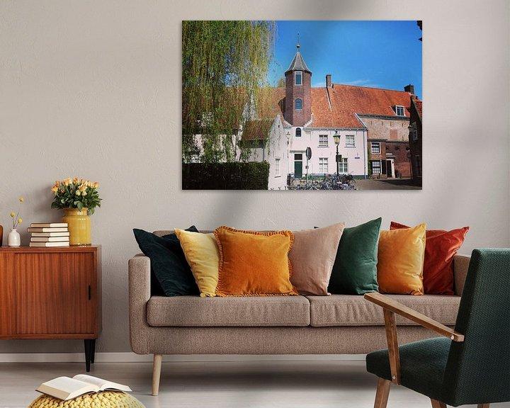 Sfeerimpressie: View of historical old town of Amersfoort, Netherlands van Daniel Chambers
