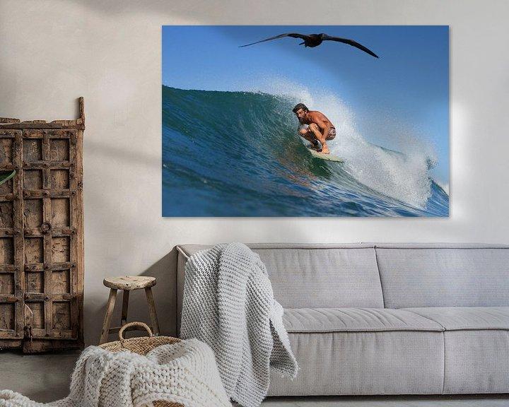 Sfeerimpressie:  SURFER AND THE BIRD van STUDIO MELCHIOR