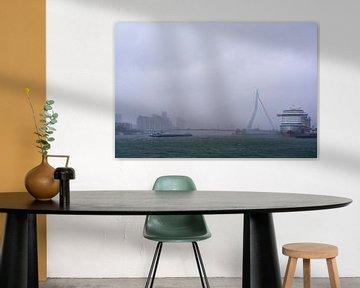 Rotterdam op een stormachtige herfstochtend van Richard de Boorder