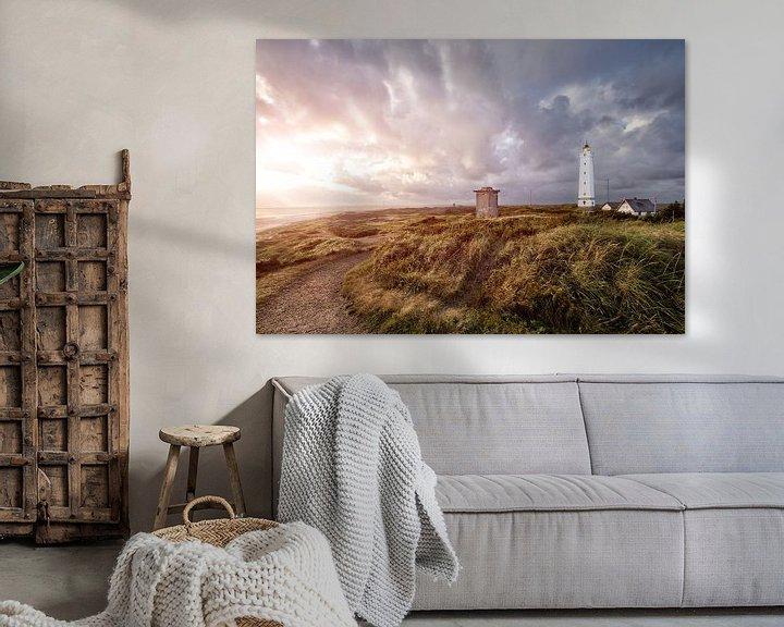 Sfeerimpressie: Vuurtoren Blavand, Denemarken van Sander Sterk