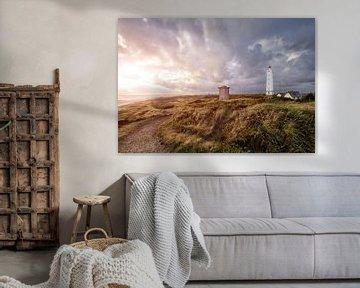 Vuurtoren Blavand, Denemarken van Sander Sterk