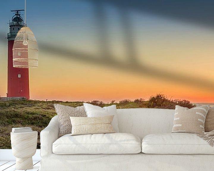 Beispiel fototapete: Texel Panorama Leuchtturm. von Twan van den Hombergh
