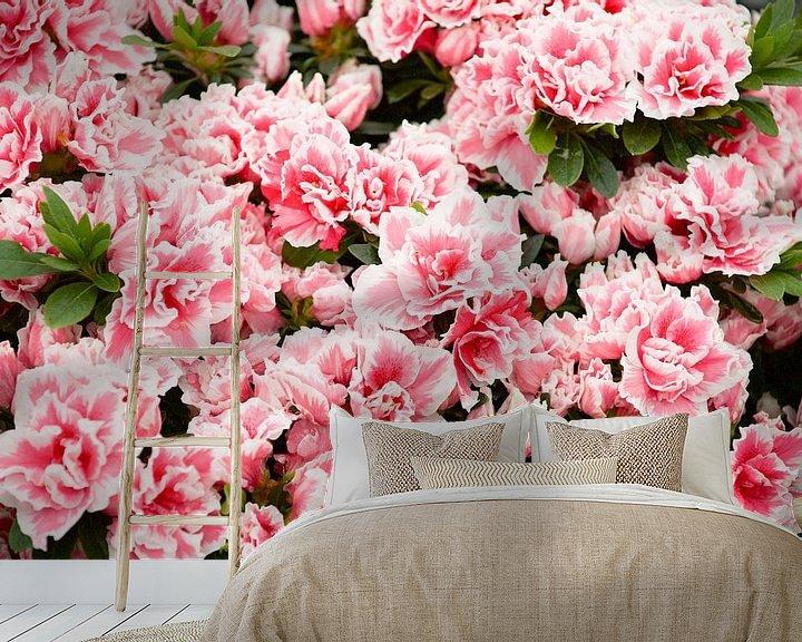 Sfeerimpressie behang: roze van marijke servaes