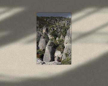 landschap van rotsen   van marijke servaes
