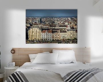 Budapest Skyline van Julian Buijzen