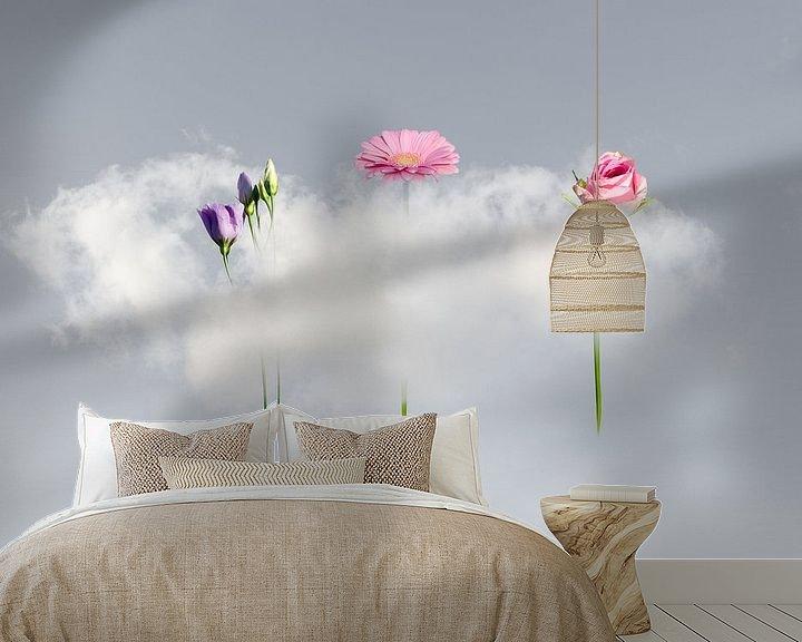 Sfeerimpressie behang: Wolk-Lift me Up van Hannie Kassenaar