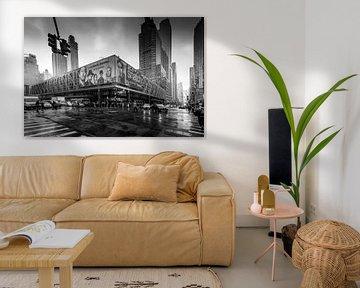 Black and White Manhattan von Dennis Donders