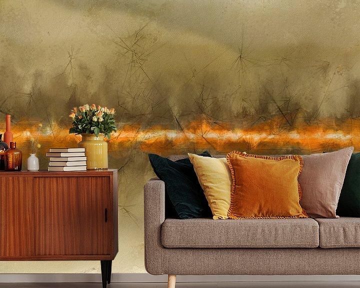 Sfeerimpressie behang: line of fire van Anita Meis