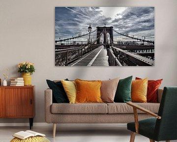 Auf der Brooklyn Bridge, New York City. von Anita Meis