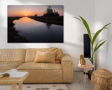 Winterse zonsondergang in Oss van Wouter Bos
