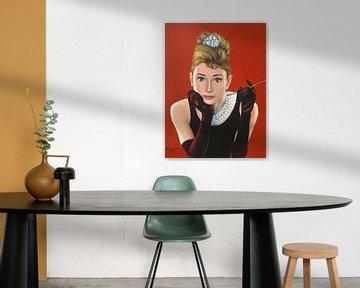 Portret Audrey Hepburn van Marita Zacharias