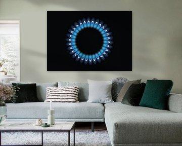 Gasbrenner mit blauen Flamme, Gasflamme von Mark Rademaker