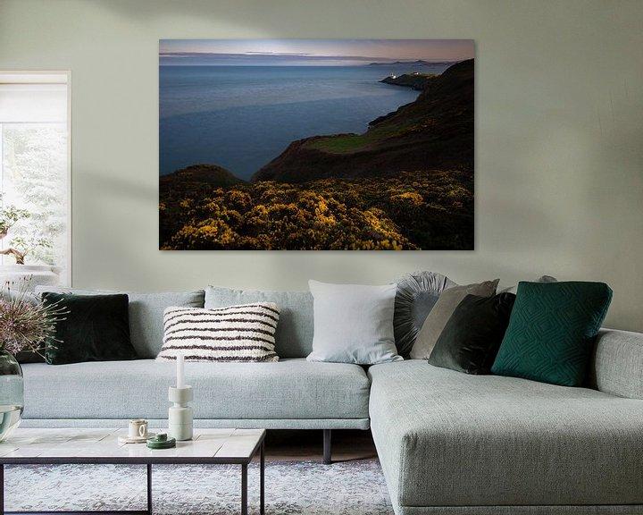 Sfeerimpressie: Baily Lighthouse Zonsondergang van Ronne Vinkx