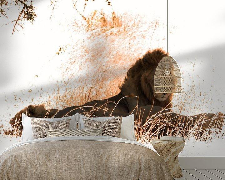 Beispiel fototapete: Lion Serengeti von Rianne Magic moments