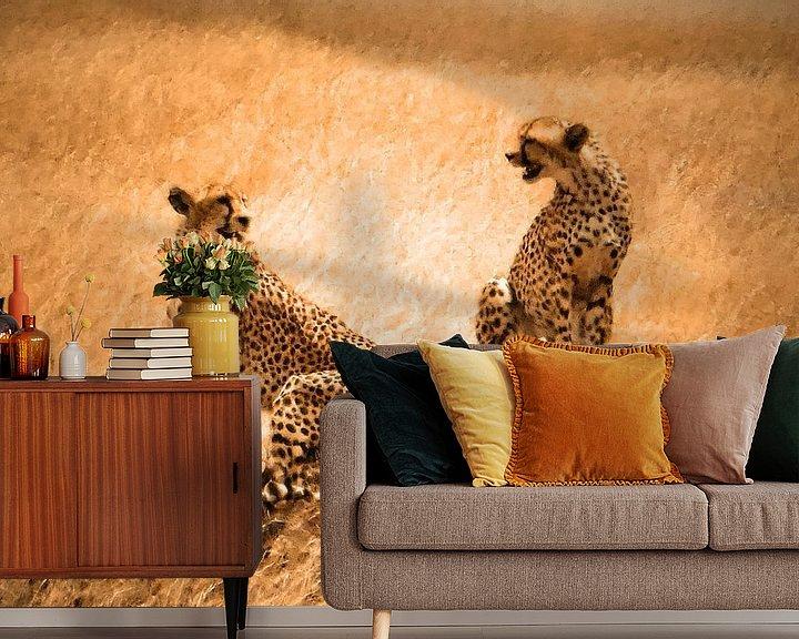 Beispiel fototapete: Cheetah couple von Rianne Magic moments