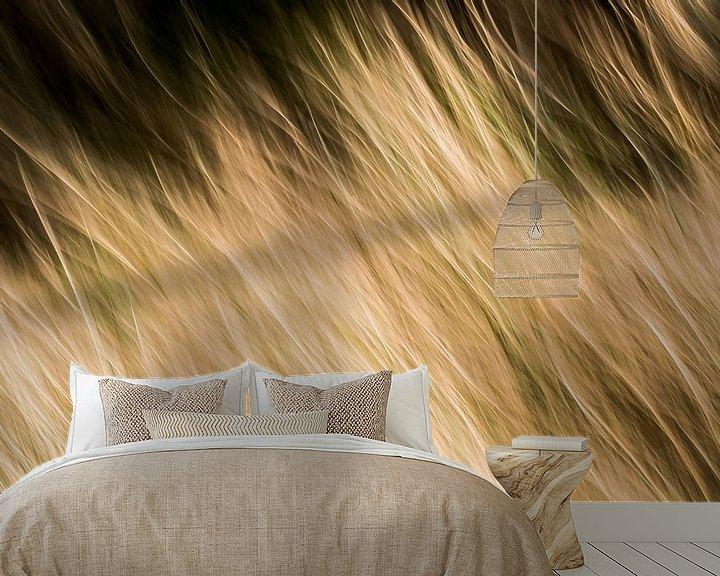 Sfeerimpressie behang: bewegend riet  van Jovas Fotografie