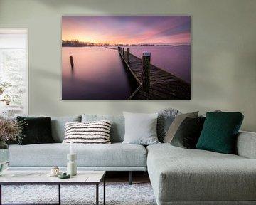 Purple sunrise van Jos Duivenvoorden