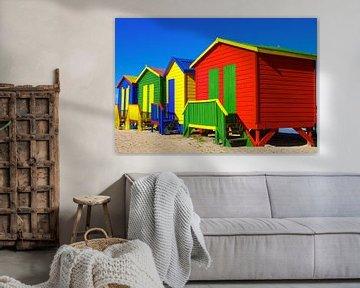 Muizenberg Strandhuisjes van Jan van Dasler