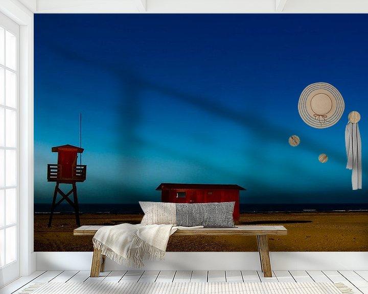 Sfeerimpressie behang: blauw van Norbert Sülzner