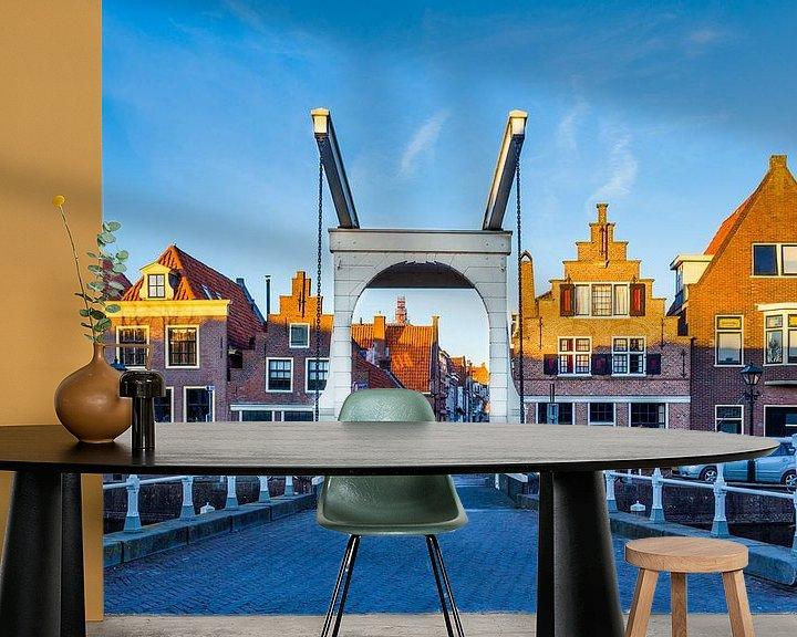 Sfeerimpressie behang: Stadsgezicht Alkmaar, Nederland van Hilda Weges