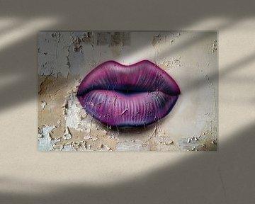 Lippen op de Muur. van Roman Robroek