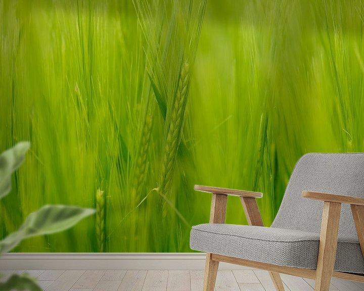 Sfeerimpressie behang: Groen van Arjen Roos