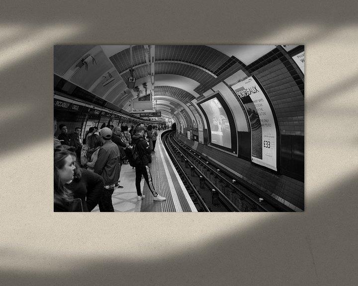 Sfeerimpressie: Metrostation Londen, Piccadilly Circus, Verenigd Koninkrijk van Roger VDB