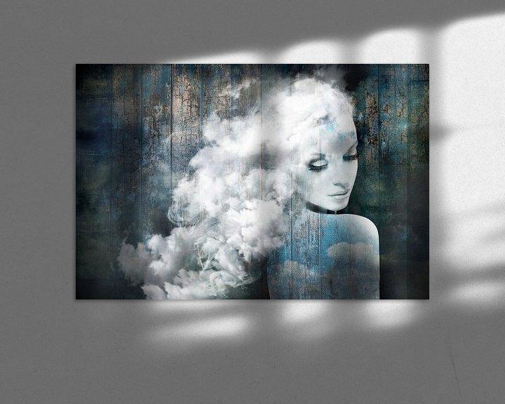 Beispiel: Wie süß, eine Wolke zu sein. Schweben im Blauen! von Dreamy Faces