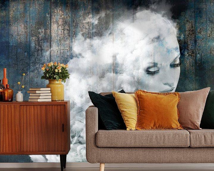 Beispiel fototapete: Wie süß, eine Wolke zu sein. Schweben im Blauen! von Dreamy Faces