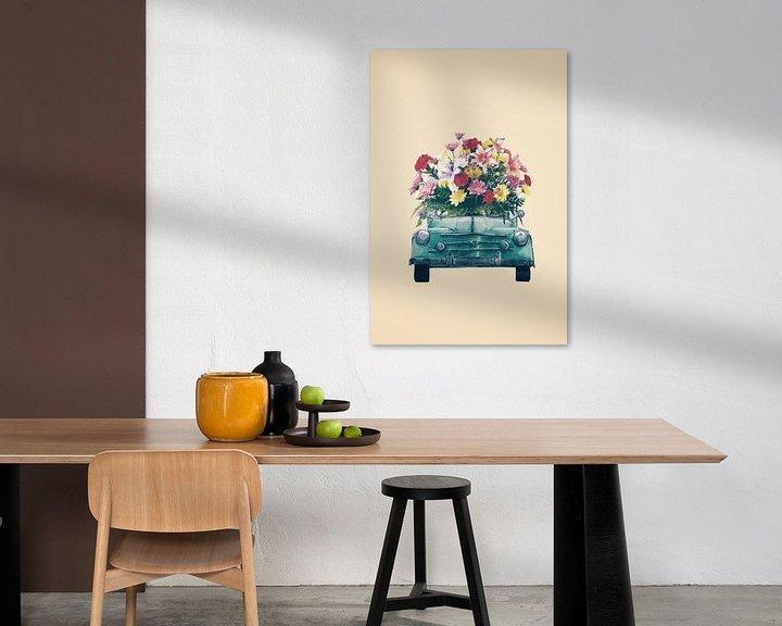 Impression: Retro car with flowers sur Dreamy Faces