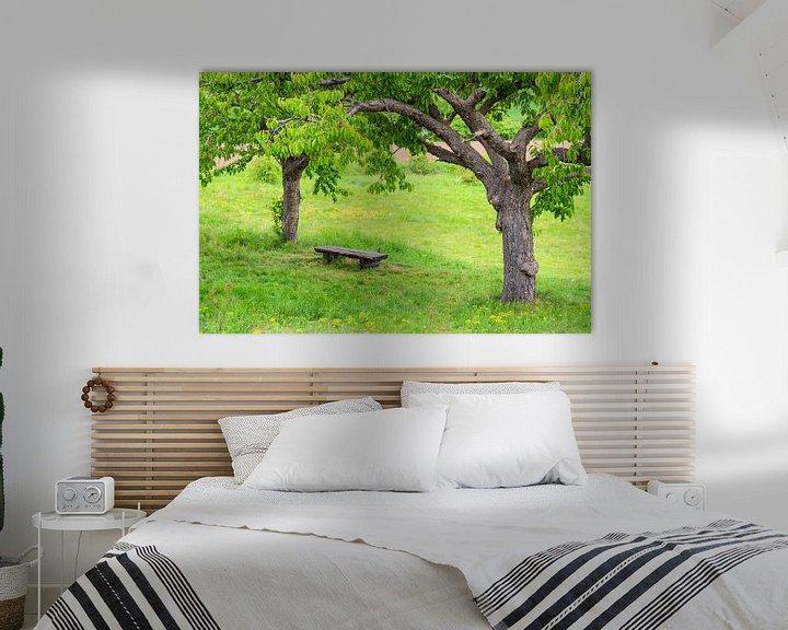Sfeerimpressie: Landscape with trees in the Harz area, Germany van Rico Ködder