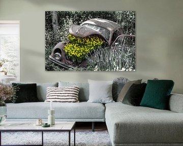Oude Kever met bloemen von Lindi Hartman