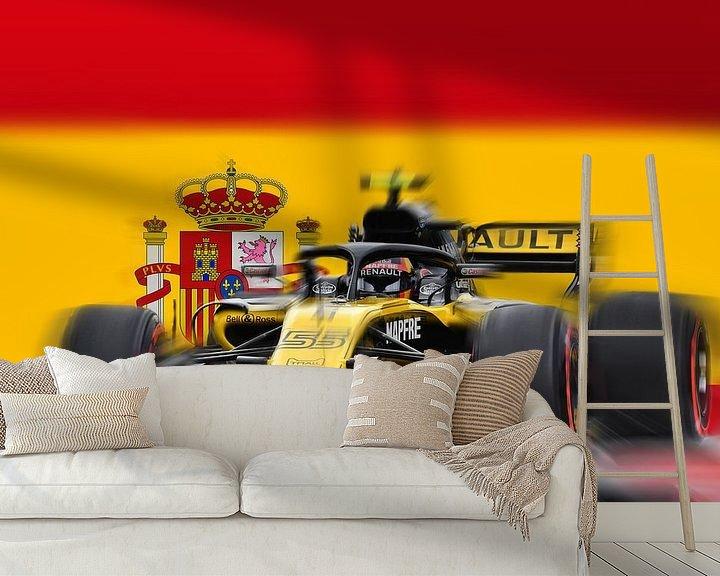 Sfeerimpressie behang: #55 Carlos Sainz junior - Spain van Jean-Louis Glineur alias DeVerviers