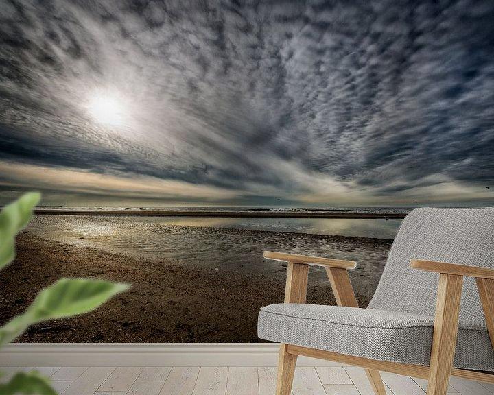 Sfeerimpressie behang: Strand Wijk aan Zee van Manuel Speksnijder