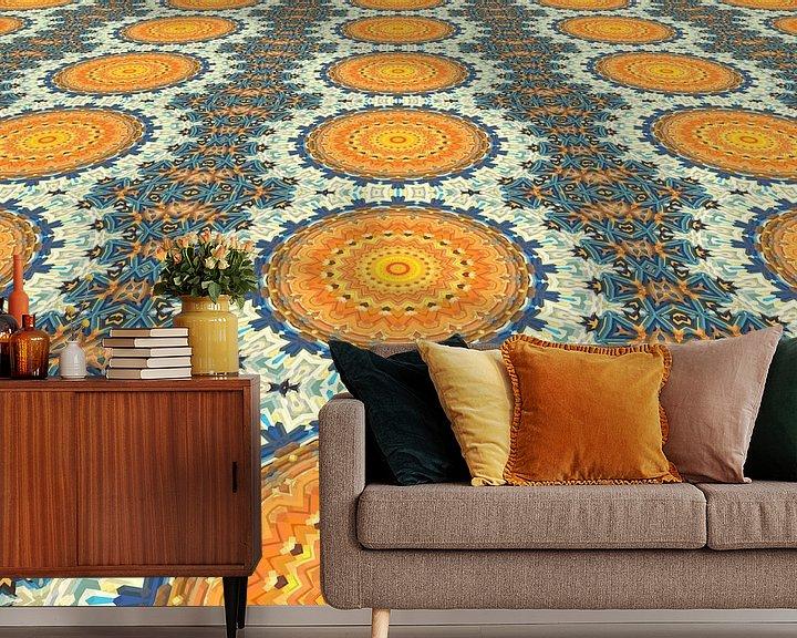 Sfeerimpressie behang: Mandala Perspectief 2 van Marion Tenbergen