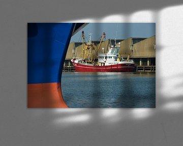 Visafslag in de haven van Scheveningen