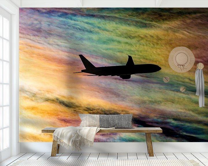 Sfeerimpressie behang: Regenboog wolken van Martin Boschhuizen