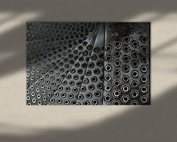 Spiraal van buitentrap in de Burcht van Leiden van Georges Hoeberechts