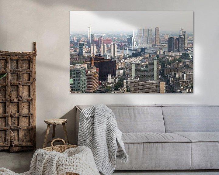Sfeerimpressie: Het stadscentrum van Rotterdam met de Erasmusbrug van MS Fotografie   Marc van der Stelt