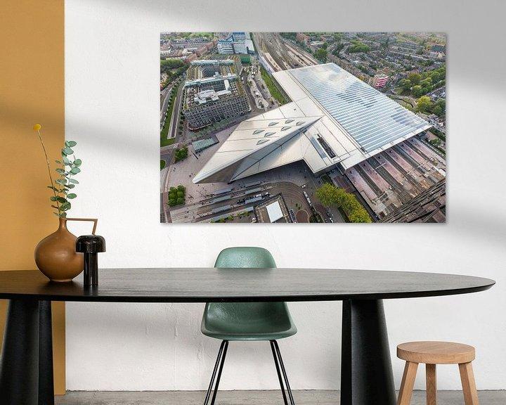 Sfeerimpressie: Het futuristische Centraal Station van Rotterdam van MS Fotografie   Marc van der Stelt
