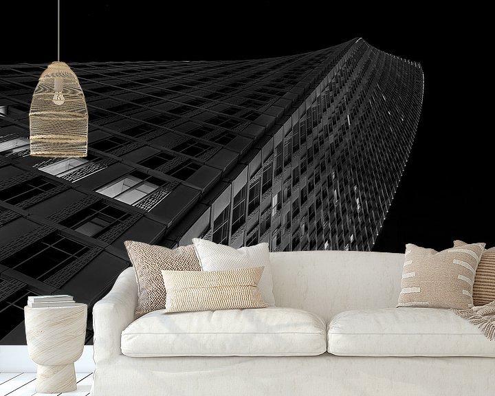 Sfeerimpressie behang: Cayan Tower Dubai Marina van Michael van der Burg