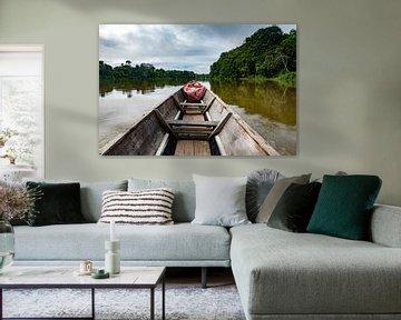 Kajak über den Fluss
